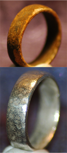 Silver Ring - Before and After Cleaning using Electrolsis