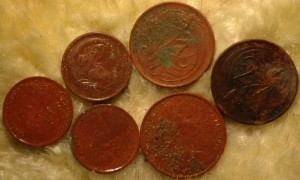 1 and 2 cent coins