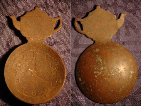 Metal Detecting Find - Copper Stones Sugar Serving Spoon - Made in Australia