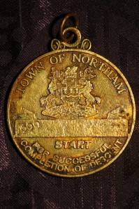 1999 Avon Descent Competitors Medallion - Found Near Garrett Road Bridge - Bayswater