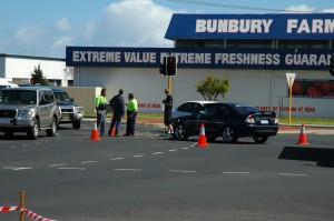 Car Crash I witnessed in Bunbury
