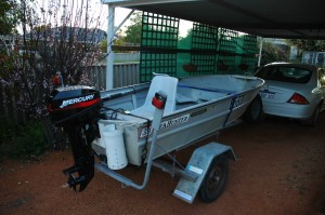 My new Metal Detecting Tool - 3.4 Metre Aluminum Boat and Trailer with 15 HP Mercury Motor