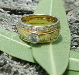 Lost Beautiful Diamond and Gold Wedding Ring from Rockingham Beach